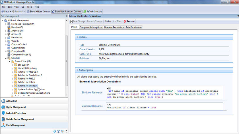 IBM Bigfix Patch Management